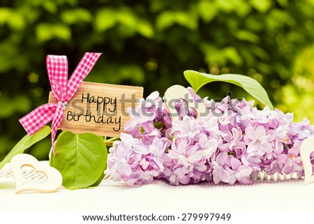 greeting card background for your text - happy birthday - stock photo