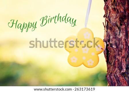 greeting-card background - happy birthday - stock photo