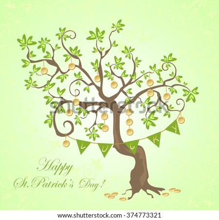 Greeting card for St. Patrick's Day - stock photo