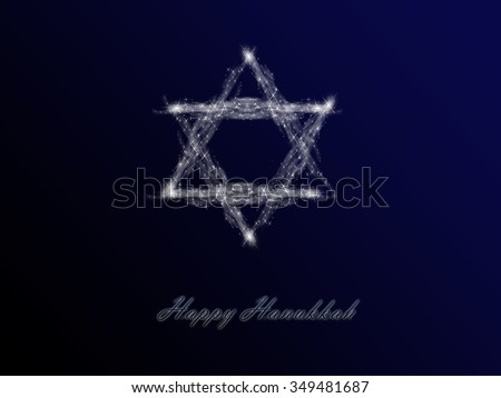 Greeting card jewish holiday hanukkah star stock illustration greeting card for the jewish holiday of hanukkah star of david shaped out of stars m4hsunfo Image collections