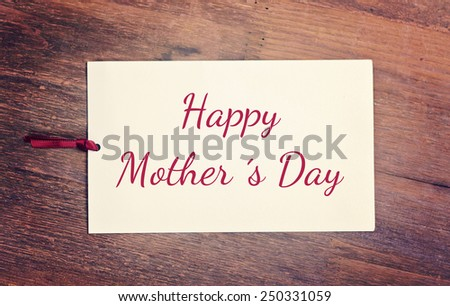 greeting card - happy mother´s day - stock photo