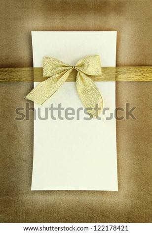 Greeting card on vintage background - stock photo