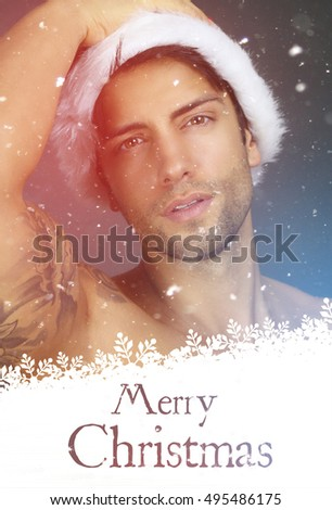 Greeting Card - sexy santa claus