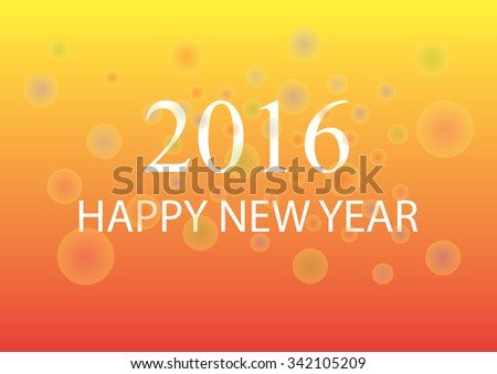Greeting card with Christmas and Happy New Year - stock photo