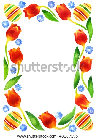 Greeting card with Easter decoration