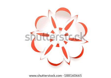 Greeting card with paper flower  - stock photo