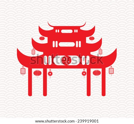 Greeting Chinese New Year - stock photo