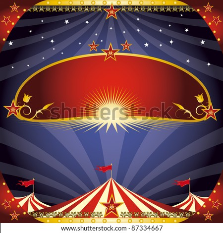 greeting circus leaflet. A greeting card on circus theme. Enjoy !