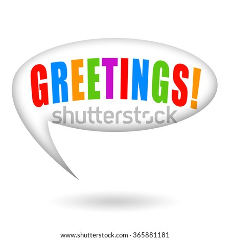 Greetings - stock photo