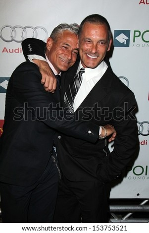 "Greg Louganis and Johnny Chaillot at the ""Voices On Point"" Gala, Century Plaza Hotel, Century City, CA 09-07-13 - stock photo"