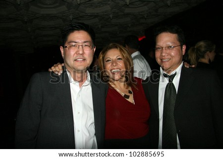 Gregory Hatanaka, Sophia Santi and Edwin Santos at the Playback Wrap Party, House of Blues, West Hollywood, CA. 04-04-10