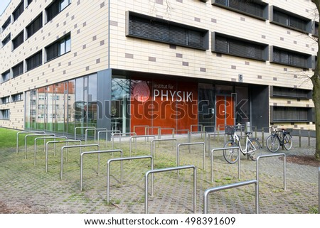 GREIFSWALD, GERMANY - APRIL 2, 2015: Institute of Physics, University Greifswald. Germany