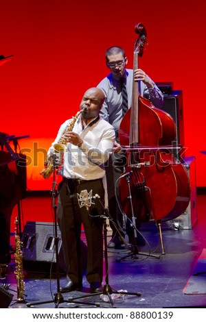 GRENADA, SPAIN - NOVEMBER 12: Roy Haynes and Fountain of Youth Band perform at the XXXII International Jazz Festival on November 12, 2011 in Grenada, Spain.