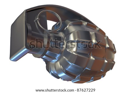 grenade on white background - stock photo
