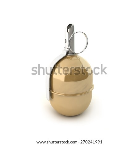 Grenade RGD-5 on a white background - stock photo