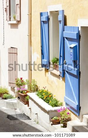 Greoux-les-Bains, Provence, France - stock photo