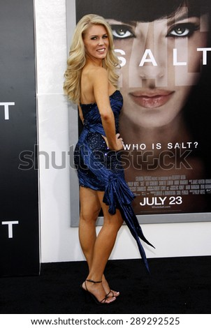 """Gretchen Rossi at the Los Angeles premiere of 'Salt"""" held at the Grauman's Chinese Theatre in Hollywood on July 19, 2010.  - stock photo"""