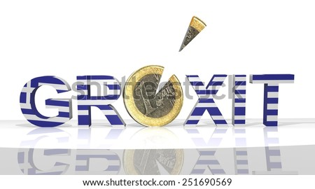 grexit euro crisis - stock photo