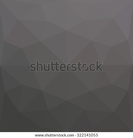 Grey abstract geometric rumpled triangular low poly style illustration graphic background. Raster polygonal design for your business.