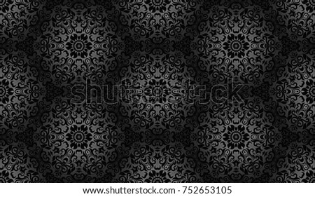 Grey and black floral pattern
