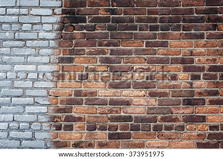 Grey and red brick background.
