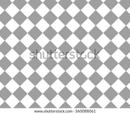 Grey and white checkered hypnotic pattern - stock photo