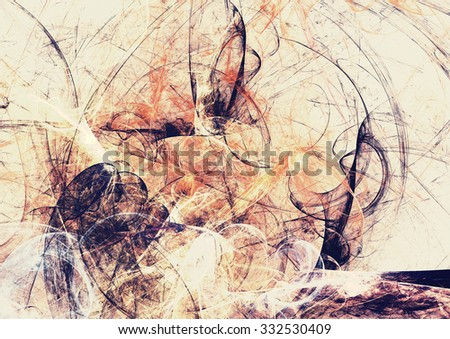 Grey and yellow color grunge pattern. Abstract artistic vintage scratch background. Modern futuristic painting texture for creative graphic design. Fractal artwork - stock photo