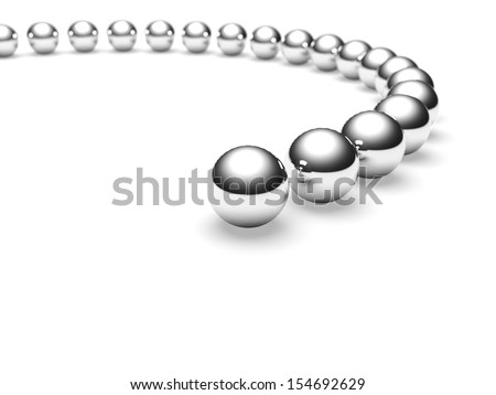 Grey balls. Conception of leadership. 3d render - stock photo