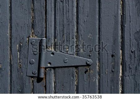grey barn door - stock photo