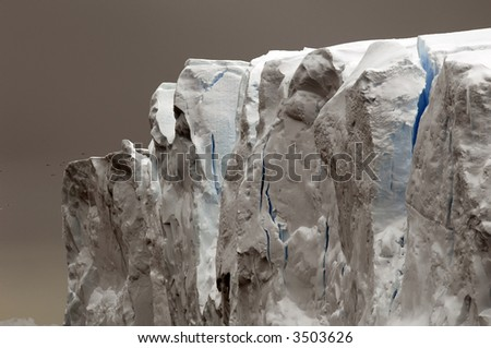 Grey-blue iceberg - stock photo
