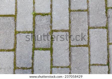grey brick background - stock photo