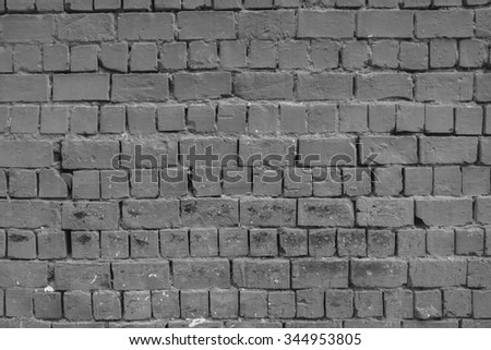 Grey brick wall texture background.  - stock photo