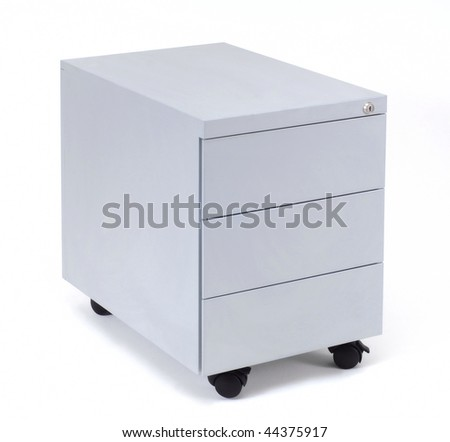 grey business coffer isolated at white background