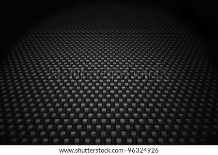 Grey carbon fiber background - stock photo