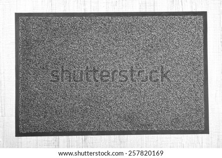 Grey carpet on floor close-up - stock photo