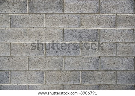 grey cement brick wall - stock photo