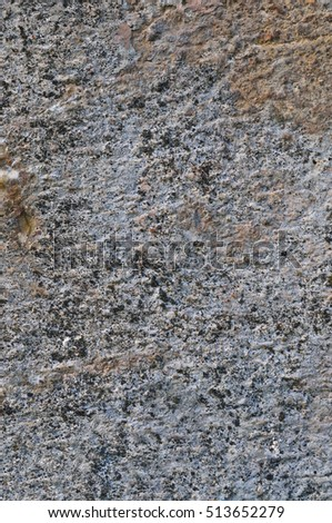 Grey Coarse Concrete Stone Wall Texture, Vertical Closeup Old Aged Weathered Natural Rustic Textured Grungy Stonewall Background Pattern Vintage Red, Beige, Yellow, Grunge Dolomite Slate Slab Rock