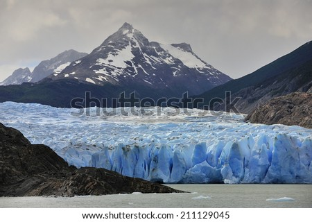Grey Glacier at, National Park Torres del Paine, Patagonia, Chile