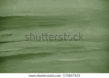grey green abstract painting on a canvas oil - stock photo