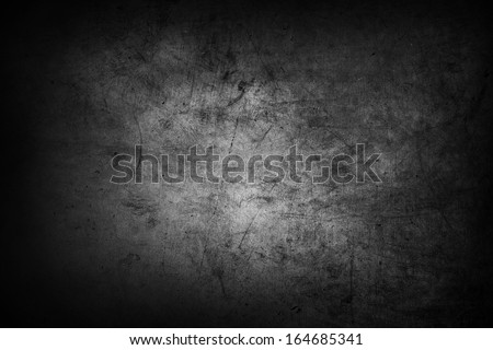 Grey grunge textured wall background - stock photo