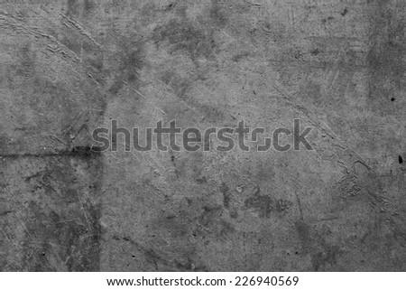 Grey grunge textured wall closeup  - stock photo