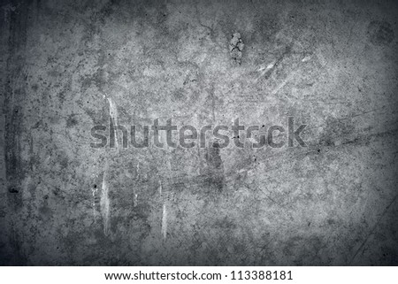 Grey grunge textured wall. Copy space - stock photo