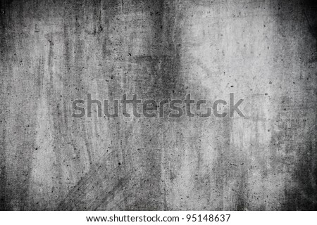 Grey grunge wall texture useful as background - stock photo