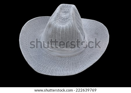 grey hat  isolated on black studio background.