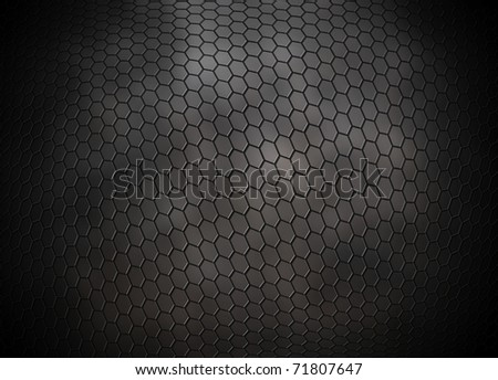 grey hexagons grid background - stock photo