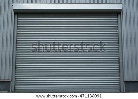 Grey industrial metal roller shutter door in building. & Roller Shutter Door Stock Vector 171119222 - Shutterstock pezcame.com
