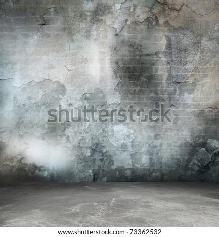 grey interior room - stock photo