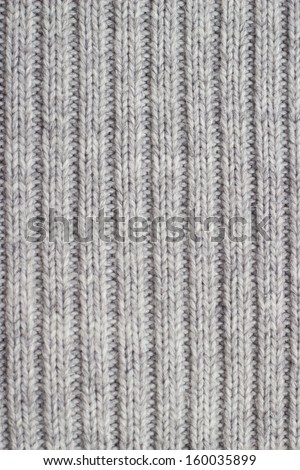 Grey knitting wool texture background. - stock photo