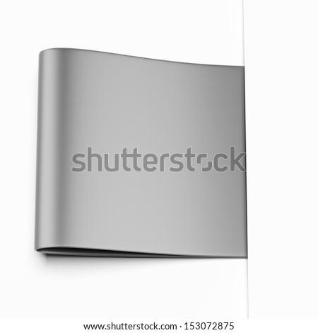 Grey label - stock photo