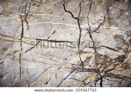 Grey Light Yellow Marble Granite Stone slab surface - stock photo